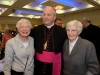 Sr Veronica, cousin of Bishop Michael, with the new Bishop Michael Router at a celebration dinner following the Bishop's Ordination