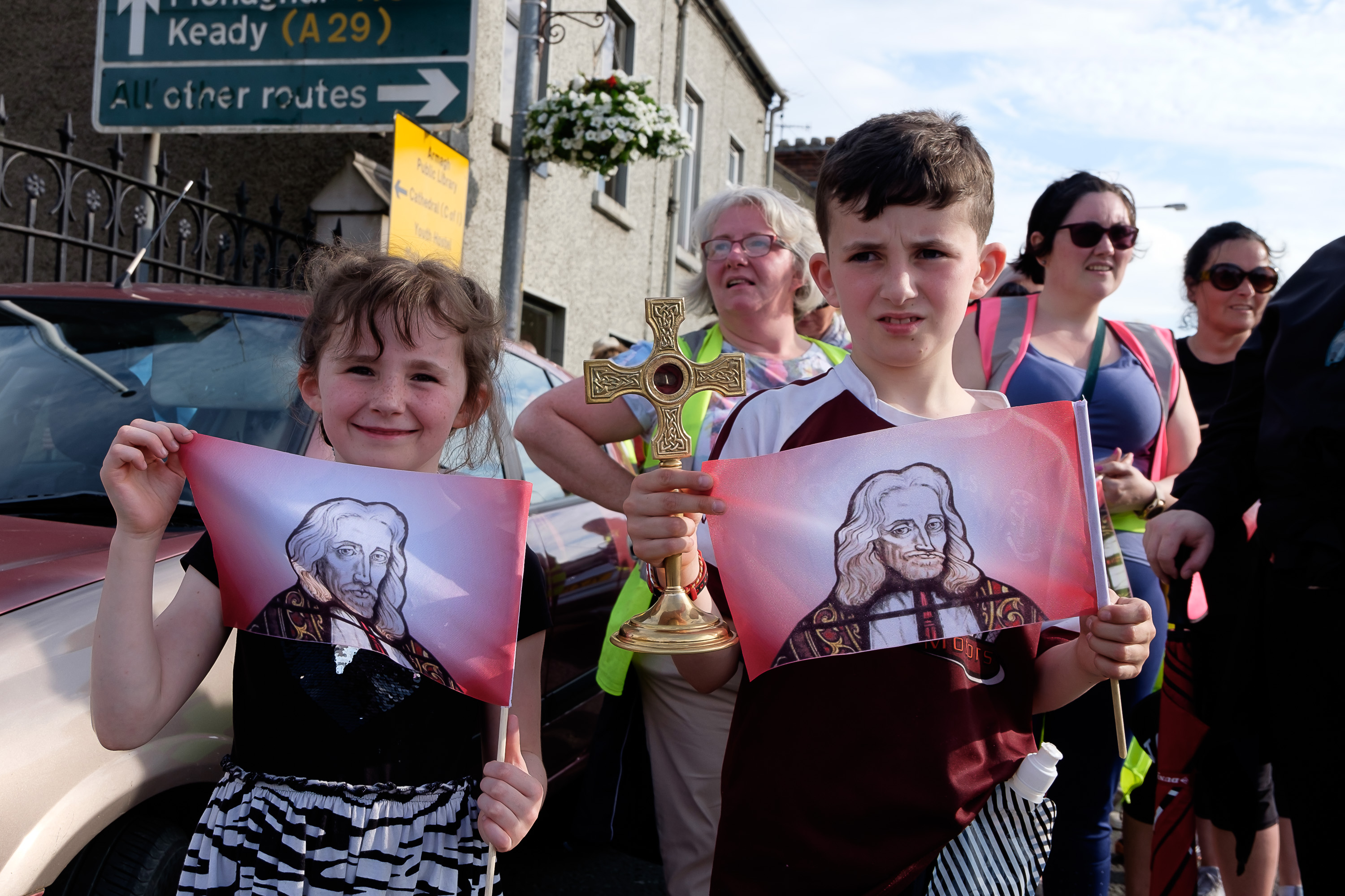 St Oliver Plunkett Camino  passes through Armagh City CentreArmagh City Centre Armagh Co.Armagh 9 July 2019CREDIT: LiamMcArdle.com