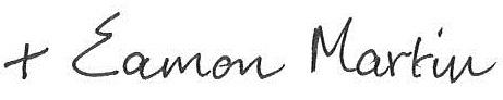 Archbishop Eamon Signature