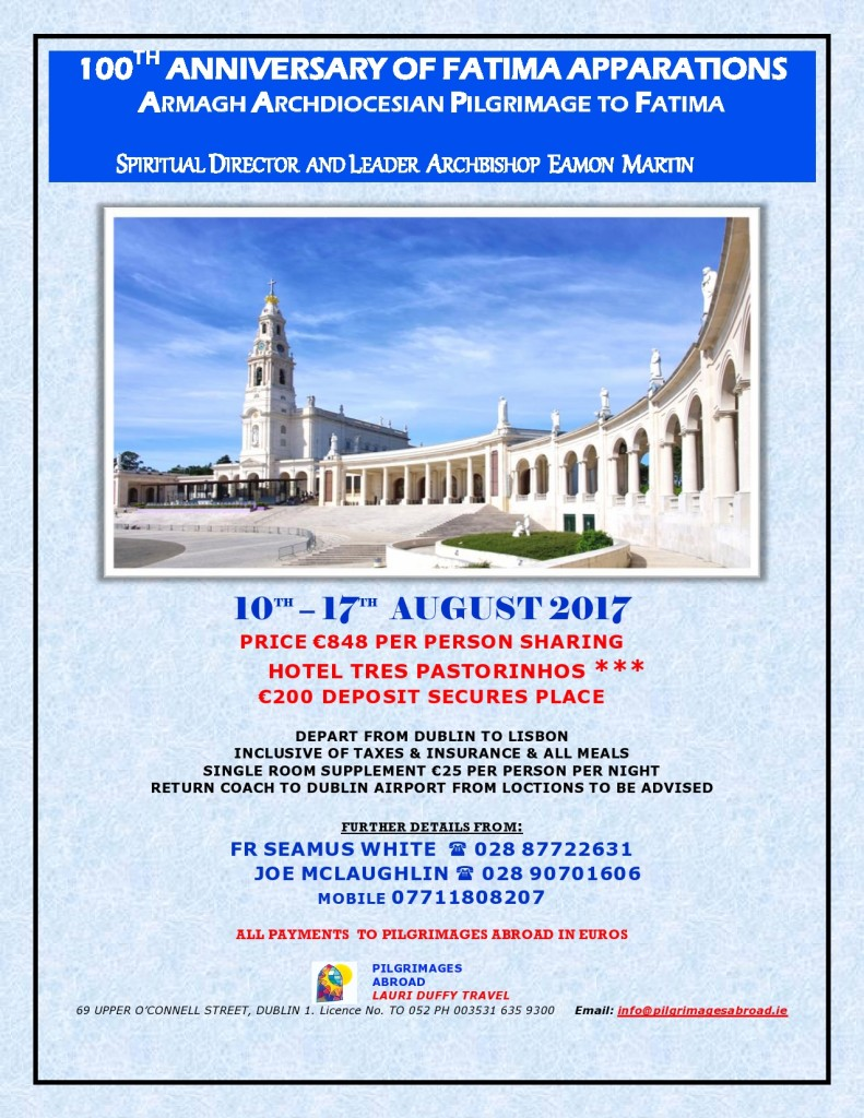 Archdiocesan Centenary Pilgrimage to Fatima