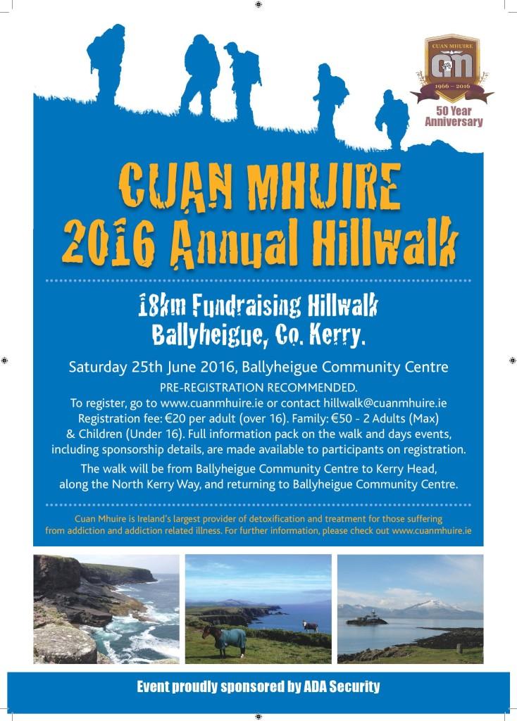 Cuan Mhuire Annual Fundraising Hillwalk