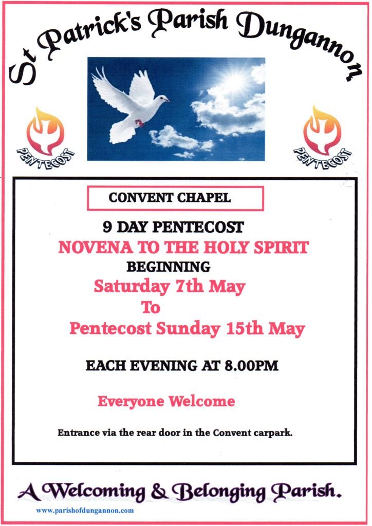 Novena to the Holy Spirit @ Dungannon: Convent Chapel