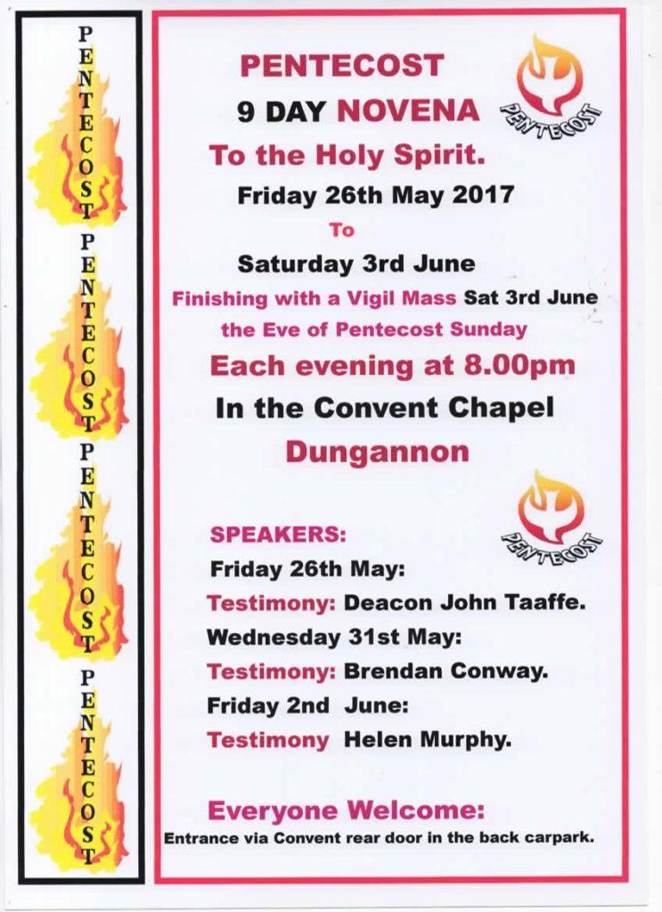 Pentecost Novena @ Convent Chapel, Dungannon