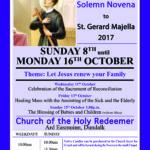 St Gerard Majella Solemn Novena @ Holy Redeemer Church   Dundalk   County Louth   Ireland