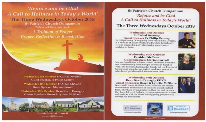 Triduum of Prayer St Patrick's Dungannon @ Dungannon Church