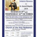 Solemn Novena to St. Gerard Majella