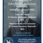 An evening in celebration of John Henry Newman @ Catholic Chaplaincy at Queen's