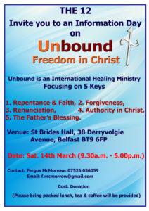 Unbound - Freedom in Christ @ St. Brides Hall, 38 Derryvolgie Ave, Belfast BT9 6FP