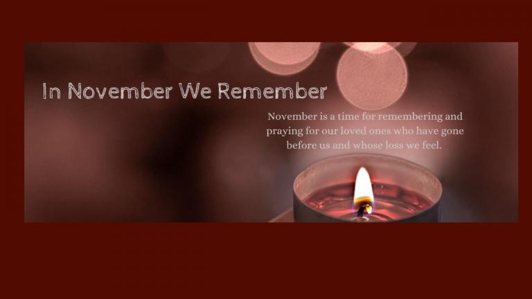 """In November We Remember"", 1st Nov 2020, 3pm, St. Patricks Cathedral Armagh."